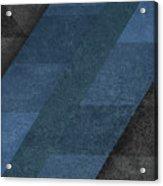 Geometric Blue Acrylic Print