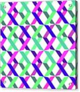 Geometric Crosses Acrylic Print