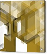 Geometric Gold Composition Acrylic Print