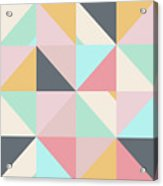 Geometric Pattern Xv Acrylic Print