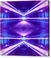 Geometric Street Night Light Pink Purple Neon Edition  Acrylic Print