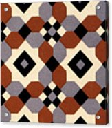 Geometric Textile Design Acrylic Print