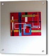 Geometrical Abstract Acrylic Print