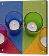 Geometrical Shapes, Colours And Candles Acrylic Print
