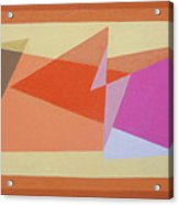 Geometry Shapes And Colors 6 Acrylic Print