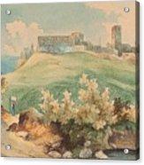 Georg Geyer 1823   Wien   1912   Burg Brandzoll In Tirol Acrylic Print