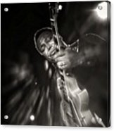 George Benson Black And White Acrylic Print