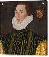 George Gower Portrait Of Thomas Slingsby 1556  1579 1577 Acrylic Print