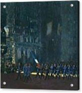 George Luks   Blue Devils On Fifth Avenue   1918 Acrylic Print