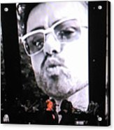 George Michael Sends A Kiss Acrylic Print