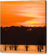 George T. Bagby State Park Sunset Acrylic Print