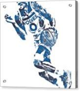 George Teague Minnesota Timberwolves Pixel Art 1 Acrylic Print
