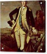 George Washington At Princeton Acrylic Print by Charles Willson Peale