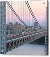 George Washington Bridge And Lighthouse I Acrylic Print