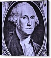George Washington In Light Purple Acrylic Print