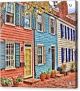 Georgetown Row House Acrylic Print