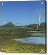 Geothermal Power Station Iceland  Acrylic Print