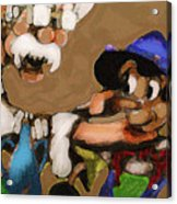 Geppetto And Pinochio Acrylic Print