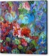Geranium Garden Acrylic Print
