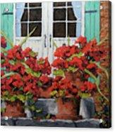 Geraniums On The Porch Acrylic Print