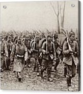 German And Austrian Soldiers Marching Acrylic Print