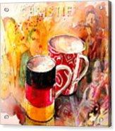 German Mugs And Christie Acrylic Print
