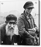 German Photograph Of Two Impoverished Acrylic Print