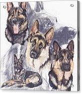 German Shepherd W/ghost Acrylic Print