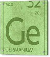 Germanium Element Symbol Periodic Table Series 032 Acrylic Print