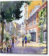 Germany Baden-baden Lange Strasse Acrylic Print by Yuriy  Shevchuk