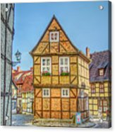 Germany - Half-timbered Houses And Alleys In Quedlinburg Acrylic Print