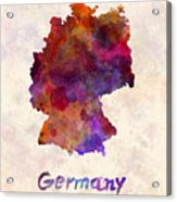 Germany In Watercolor Acrylic Print