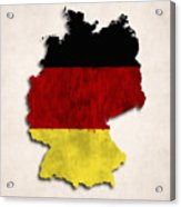 Germany Map Art With Flag Design Acrylic Print