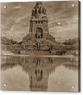 Germany - Monument To The Battle Of The Nations In Leipzig, Saxony, In Sepia Acrylic Print