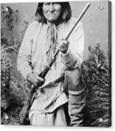 Geronimo Apache Indian Native American Acrylic Print