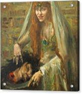 Gertrud Eysoldt As Salome Acrylic Print