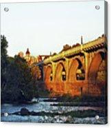 Gervais Street Bridge Upstream  Acrylic Print