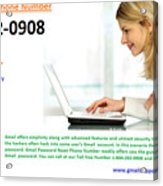 Get Solution For Gmail Support Service Number 1-844-202-0908 Acrylic Print