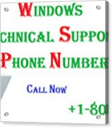 Get Technical Support For Windows Acrylic Print