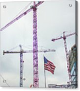 Getter Done Tower Crane Construction Art Acrylic Print