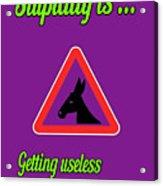 Getting Bigstock Donkey 171252860 Acrylic Print