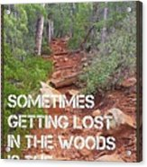 Getting Lost In The Woods Acrylic Print