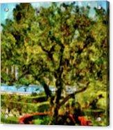 Getty Villa Landscape Acrylic Print