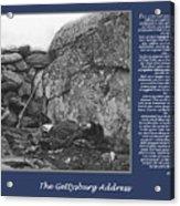 Gettysburg Address Civil War Devils Den Acrylic Print