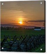 Gettysburg At Sunset Acrylic Print