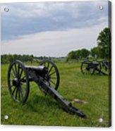 Gettysburg Battlefield Cannons Acrylic Print