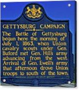 Gettysburg Campaign Acrylic Print