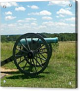 Gettysburg Cannon Acrylic Print by Kevin Croitz