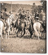 Gettysburg Cavalry Battle 7970s  Acrylic Print