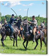 Gettysburg Cavalry Battle 7978c  Acrylic Print